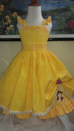 Disney Belle Princess Inspired custom sundress by Littleonesewings, $75.00 - - - - If I had an unlimited clothing budget for my kids, Mia would be in this.  <3 it!
