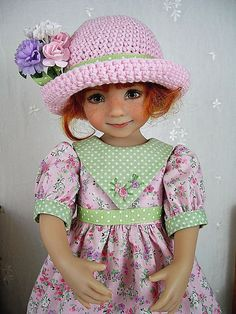 "Spring Dress and Hat for Dianna Effner Little Darling 13"" made by Ulla #DiannaEffner"
