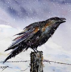 Dean Crouser | WATERCOLOR | Raven