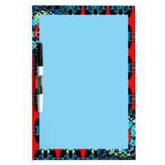 Dry Erase Board with Crocheted Style Border
