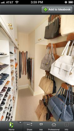 The Dressing Room Closet - contemporary - closet - los angeles - by Lisa Adams, LA Closet Design Closet Walk-in, Master Closet, Closet Bedroom, Closet Space, Closet Storage, Closet Organization, Closet Ideas, Organization Ideas, Wardrobe Ideas