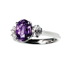 1-carat purple sapphire and diamonds in platinum, Bailey Banks & Biddle, $11,000    i would adore something this expensive. sigh... figures....