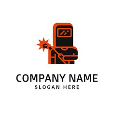 Red and Black Welding Equipment logo design Custom Logo Design, Custom Logos, Welding Logo, Online Logo, Logo Maker, Company Names, Slogan, Welding Equipment, Red