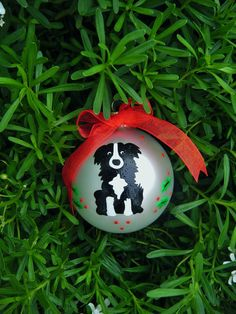 Border Collie Dog Ornament  Personalized by BrushStrokeOrnaments, $18.50