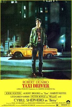 Taxi Driver (1976) is director Martin Scorsese's and screenwriter Paul Schrader's gritty, disturbing, nightmarish modern film classic, that examines alienation in urban society.