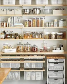 p/lincoln-kitchenremodeling-kitchen-pantry-design-elfa-prefabricated-shelving-click-to-enlarge - The world's most private search engine White Kitchen Decor, Home Decor Kitchen, Kitchen Interior, Home Kitchens, Rustic Kitchens, Kitchen Ideas, Pantry Shelving, Shelving Ideas, Pantry Storage