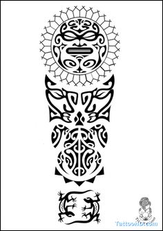 Polynesian Tattoo Drawings | Tattoo Arm Polynesian