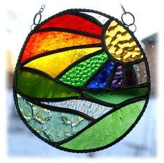 New Day Stained Glass Suncatcher Handmade Rainbow Ring £17.50