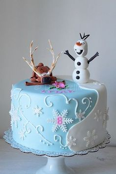 Southern Blue Celebrations: Frozen Party Cake Ideas & Inspirations