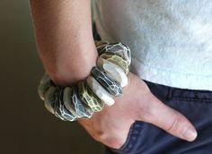 Polymer clay bracelet by jibby and juna. I love it.