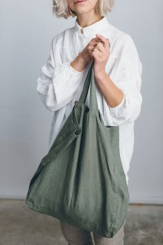 Big Tote Bags, Linen Bag, Market Bag, Cloth Bags, Large Bags, Natural Linen, Couture, Etsy, My Style