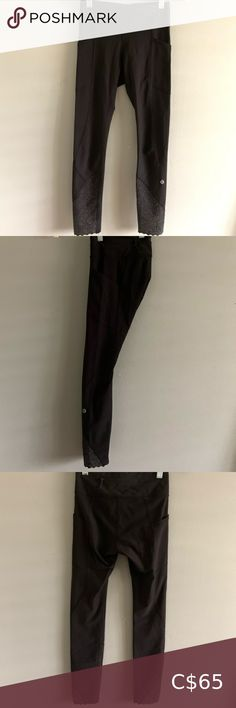 Lululemon Tight Stuff 7/8 Reflective Leggings Good condition Tiny pull on the thigh but not noticeable at all Great for running/any physical activity lululemon athletica Pants & Jumpsuits Leggings Dark Grey Leggings, Tops For Leggings, Tight Leggings, Michael Kors Rose, Ripped Skinny Jeans, Full Zip Hoodie, Black Stripes, Colorful Leggings, Thigh