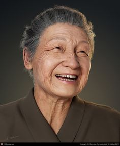 Kindly Smile, created by Wen Long Gui using Maya, Mudbox, Vray and Zbrush.