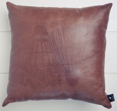 White Horse Home Leather Cushion