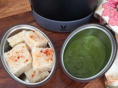 If you craving to have dhokla for your lunch then this is the best lunch box that you can pack and enjoy at your office. Lunch box are not just meant to carry phulka, curry or rice but you are free to add in your twist of comfort food into the box. Having a freshly steamed Dhokla with a freshly made coriander and mint chutney is just all you need to fill up your stomach as it is healthy and filling. The dhoklas will stay fresh in these Vaya Tyffyn carrier as will help you keep your food hot…