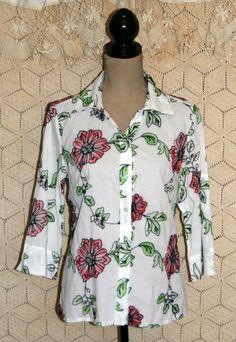 Embroidered Blouse Boho Blouse Cotton Blouse by MagpieandOtis