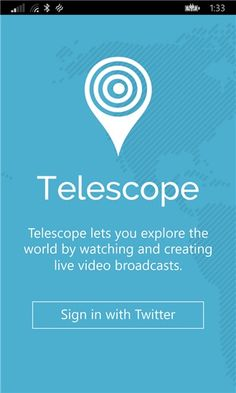 Periscope for Windows Phone works thanks to Telescope