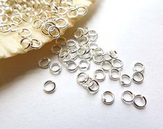 100 Silver Plated Jump Rings 3mm Open Loop by TreeChild1 on Etsy
