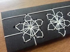 Japanese stab binding dancing snowflakes by Becca of becca making faces Bookbinding Tools, Bookbinding Tutorial, Binding Covers, Book Binding, Japanese Stab Binding, Homemade Books, Portfolio Book, Japanese Books, Making Faces