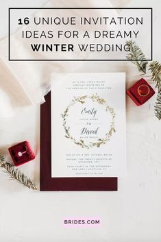 Planning a winter wedding? Here are 16 winter wedding invitation ideas that are perfect for cold-weather nuptials, no matter the winter wedding venue. Winter Wedding Invitations, Unique Invitations, Invitation Ideas, Snowflake Photos, Monogram Painting, Winter Sky, Paper Tree, Hand Sketch, Hand Illustration