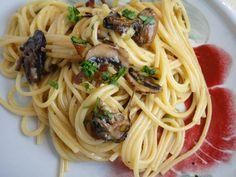 Pasta Carbanara with Smoked Oysters