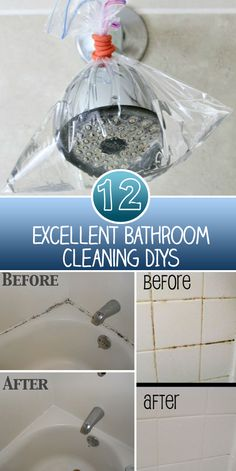 12 Excellent Bathroom Cleaning DIYs To view all Diys just click the arrow… Bathroom Hacks, Diy Bathroom Decor, Bathroom Cleaning, Bathrooms, Bathroom Ideas, Kitchen Decor, Cleaning Day, Diy Cleaning Products, Cleaning Hacks