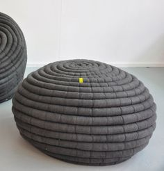 Ndebele Pouf makes use of Hand Felted Merino Wool, and is designed by South African Textile Designer Ronel Jordaan  Credit: Ronel Jordaan