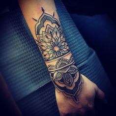 Lovin my new tattoo! ❤️ #tattoo #dotwork #linework #mandala #lotus by Corin Gilbert @ Crooked Crows Tattoo, San Antonio Texas
