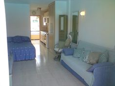 A studio to rent on Torres del Sol Tenerife. The studio can sleep up to 4 people with a double bed and sofa bed. There is satellite TV and a DVD player. Rent Studio, Double Beds, Tenerife, Sofa Bed, Sleep, Tv, People, Furniture, Home Decor