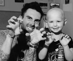 Maroon5 and a little-cute- girl with cancer