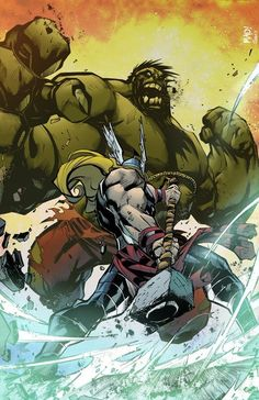 #Hulk #Fan #Art. (Hulk vs Thor) By:CallahanColor. (THE * 3 * STÅR * ÅWARD OF: AW YEAH, IT'S MAJOR ÅWESOMENESS!!!™)[THANK Ü 4 PINNING!!!<·><]<©>ÅÅÅ+(OB4E)