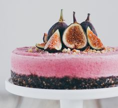 This here is some nut-based vegan voodoo. The pretty pink comes from beet juice; pomegranate juice would probably work too. Get the recipe at Oh Lady Cakes.
