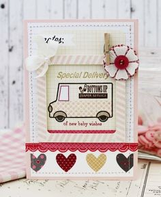 New Baby Wishes Card by Melissa Phillips for Papertrey Ink (February 2014)