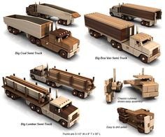 Buy the Big Easy Triple Truck Fleet - Set of 3 Trucks toy plan sets for One Low Price!