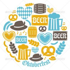 Oktoberfest Icons Collection - Objects Vectors