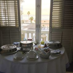 Room service with a view and Shutters on the Beach! Santa Monica, California.