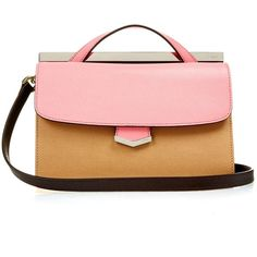Fendi Demi Jour small leather cross-body bag (1'525 CHF) ❤ liked on Polyvore featuring bags, handbags, shoulder bags, genuine leather handbags, leather handbags, fendi handbags, leather cross body purse and leather crossbody handbags