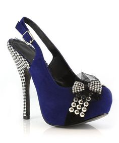 This Blue Caroline Pump by Bettie Page is perfect! #zulilyfinds Back in the day I'd have worn the hell outta these!