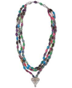 SoulFlower-NEW! Infinite Heart Necklace#fairtrade #recycled #paperbeads