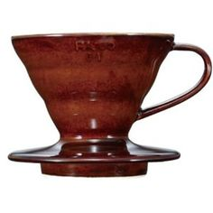 The best single-serve, pour-over coffee starts with Hario. Simple and sleek, the Hario Coffee Dripper is designed in a sleek chocolate ceramic and produces an excellent cup of coffee.