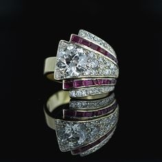 1930s platinum cocktail ring