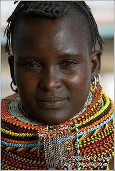 Turkana Princess - Turkana Tribe, Kenya
