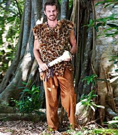 cave man costume - you live among dinosaurs as a caveman. our prehistoric faux fur tunic and elastic-waist pants have ragged edges. add a tooth necklace and club along for the full effect.