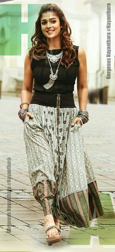 Stylish Dresses, Fashion Dresses, Nayanthara Hairstyle, Girl Trends, Indian Bridal Fashion, Desi Clothes, Ethnic Dress, Sporty Outfits, Celebrity Look