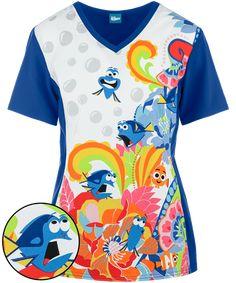 "Can you say ""Hi"" in whale? Wear the Cherokee Tooniforms Disney Fluent In Whale Scrub Top. Find cute Disney Scrubs at Uniform Advantage today! Medical Scrubs, Veterinary Scrubs, Nurse Scrubs, Disney Scrubs, Stylish Scrubs, Uniform Advantage, Greys Anatomy Scrubs, Scrub Jackets, Whale Print"