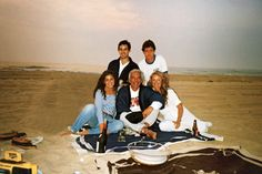 In a 1989 photograph, the Lauren clan gathers on the beach by their home in Montauk. Photo courtesy of Ricky Lauren