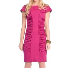 Catherine Malandrino Pink Ruched Dress Beautiful dress by Catherine Malandrino Catherine Malandrino Dresses