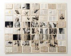 Ekaterina Panikanova - ink and acrylic paintings on books.      Gloucestershire Resource Centre http://www.grcltd.org/scrapstore/