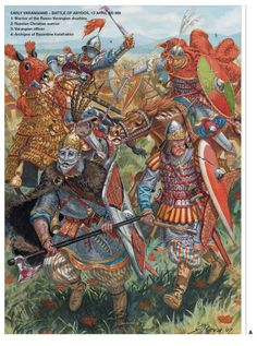 Here are ten incredible facts that you should know about the Varangian Guard - the elite mercenaries protecting the Eastern Roman Emperor. Medieval Knight, Medieval Armor, Military Art, Military History, Ancient Rome, Ancient History, Byzantine Army, Vikings, Varangian Guard