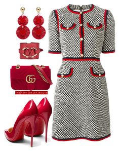 """The Fashionistas CLUB"" by kemiakinajayi on Polyvore featuring Gucci, Christian Louboutin, Oscar de la Renta and Valentino"